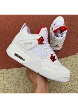 Air Jordan 4 White University Red (GS) 408452-112 for male/female