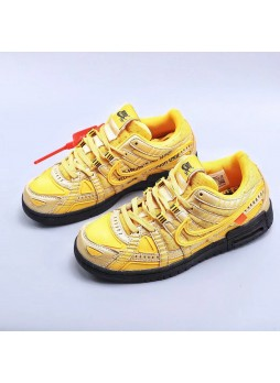 """Nike Off-White x Nike Air Rubber Dunk """"University Gold"""" CU6015-700 for male/female"""