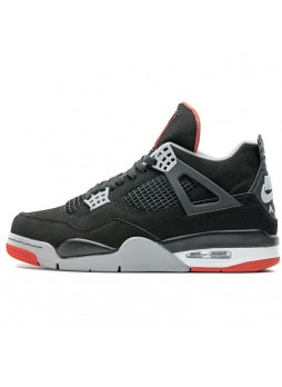Air Jordan 4 retro bred black red 308497-060 for male/female
