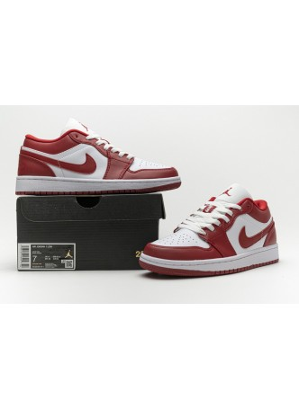 """Air Jordan 1 Low """"Gym Red"""" White Red 553558-611 for male/female"""