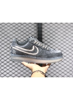 Reigning Champ x Air Force 1'07 Reflective Suede Dark Grey/Black AA1117-900 for male/female