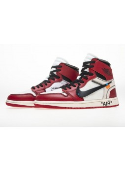 "Off-White x Air Jordan 1 Retro High The Ten ""chicago"" AA3834-101 for male/female"