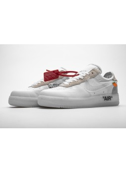 Nike Air Force 1 Low OFF-WHITE Virgil The Ten White-AO4606-100