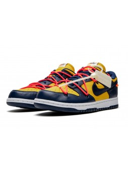 """OFF-WHITE X NIKE Dunk Low """"University Gold""""-CT0856-700"""