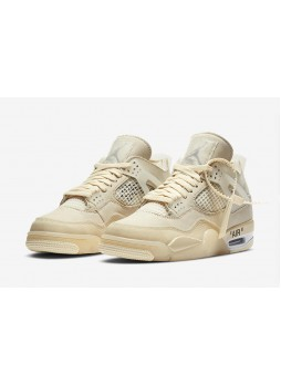 "OFF-WHITE x Air Jordan 4 ""Sail"" SP WMNS-CV9388-100"